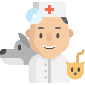 local veterinarian with dog and cat